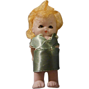 Chubby All Bisque Glass Eye Doll