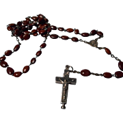 A Lovely Reliquary Rosary marked ROMA