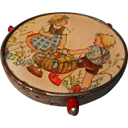 Adorable Childs Tin Revolving Cake Plate