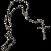 Lovely Vintage Silver Filigree Bead Rosary