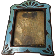 Tiny Enameled Metal Art Deco Frame - Red Tag Sale Item