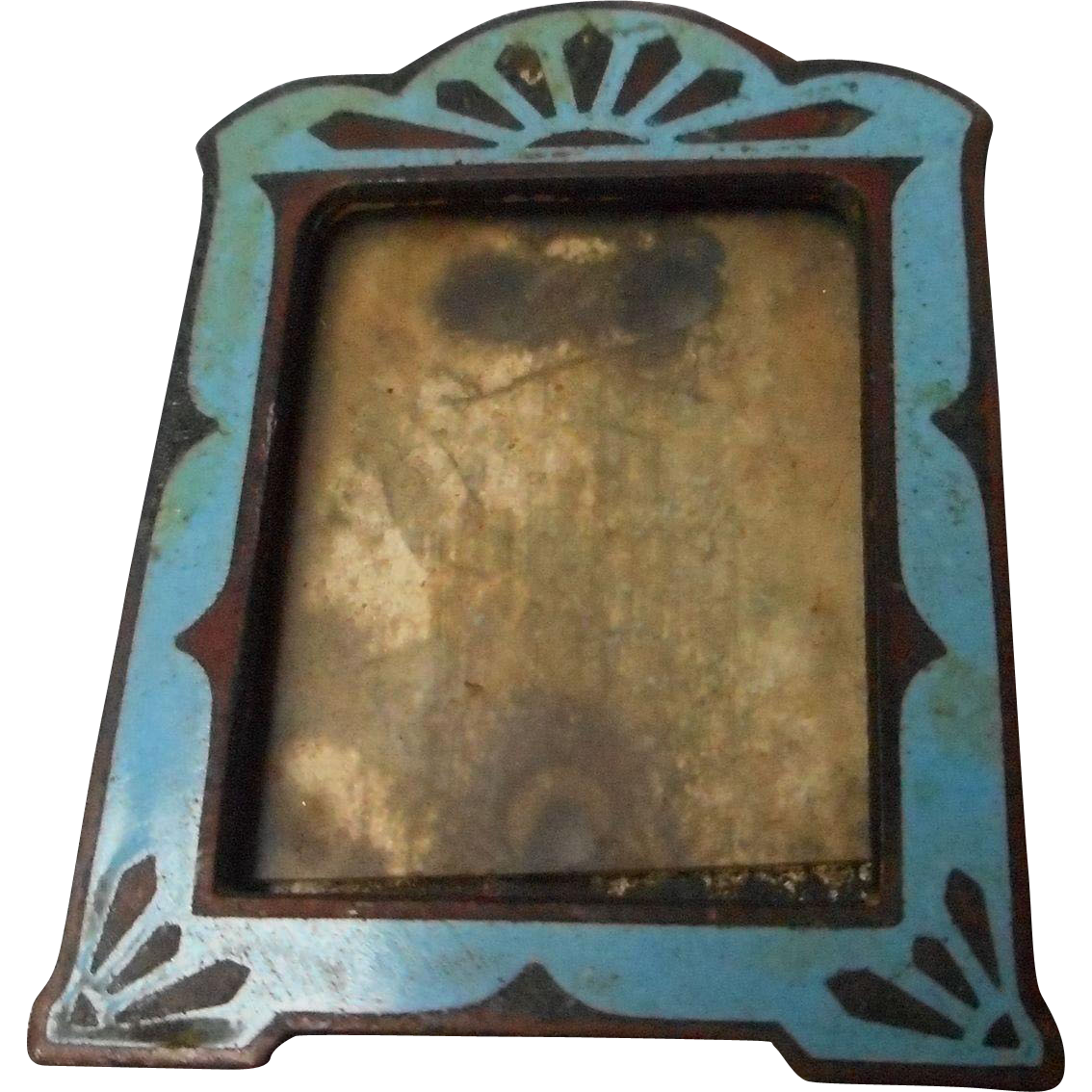 Tiny Enameled Metal Art Deco Frame From Eleanorslegacy On