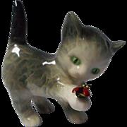 Goebel Kitten with Ladybug Porcelain Figurine