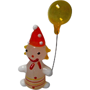 Vintage Blown Glass Clown