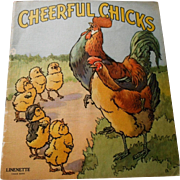 "1942 ""Cheerful Chicks"" Linenette Child's Picture Book"