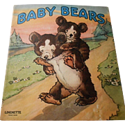 "1942 ""Baby Bears"" Linenette Child's Picture Book"
