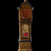 Wonderful Vintage Tin Grandfather Clock, Germany