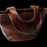 "Chocolate Brown Vintage ""Coach"" Handbag"