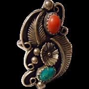 Vintage Navajo Sterling Ring, Marked C Yazzie