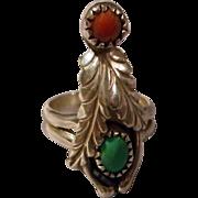 Wonderful Sterling Navajo Ring, 70's