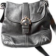 All Leather Black Vintage Coach Handbag - Red Tag Sale Item