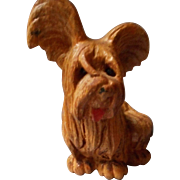 Vintage Carved Wooden Dog