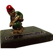 All Metal Irish Leprechaun on Connemara Marble Base