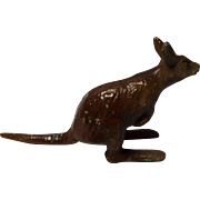 Metal Painted Miniature Kangaroo, France