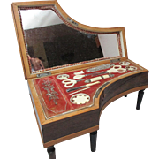 Palais Royal 12pc COMPLETE Necessaire Musical GRAND PIANO, rosewood Sewing box; 19th century made in France