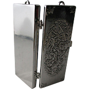 Stunning Silver Antique TOOTHPICK HOLDER; multiple uses for SEWING Pins and Needles, has Chatelaine link