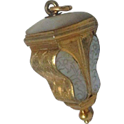Palais Royal URN thimble holder & Sterling thimble Chatelaine; Stunning Antique early c18th Century
