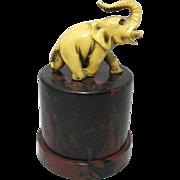 Bakelite Elephant styled ETUI with tools by Gabler; Original Antique c1920's