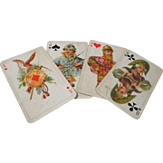 Dondorf Costume Ball design Deck of RUSSIAN  Playing Cards in Brass & wood Box; Original Antique c1913