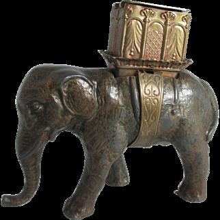 RaRe W. Avery & Son,ELEPHANT w/ Howdah, PIN & NEEDLE Case; Original Antique c1880