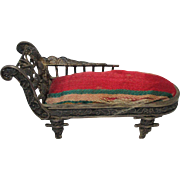 Pin Cushion shaped as a FAINTING COUCH or SETTEE; Antique c1800's