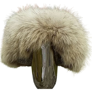 Adorable 1960's Genuine Glacier Fox Hat Toque Style Perfect for an Après Ski Look!