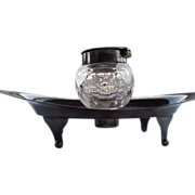 Extraordinary Gift Antique Sterling Silver, English Hallmarked, and Cut Glass Ink Well 1901-1902