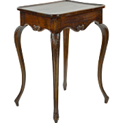 Antique French Side Table with Expressive Legs