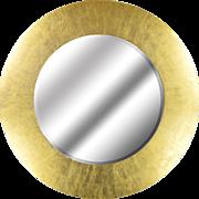Modern Round Gilded Mirror