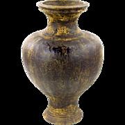 Khmer Stoneware Vessel - Antique Brown Glazed