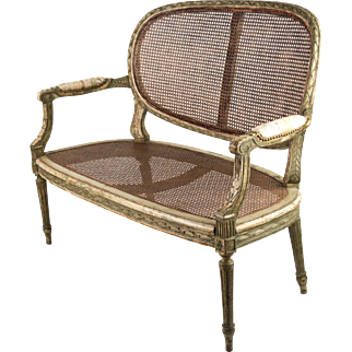 19th Century French Settee, Louis XVI Style