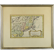 1757 Map of New England, NY and PA, by Jacques-Nicolas Bellin