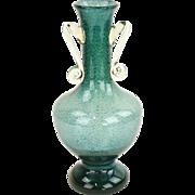 Green Handblown Glass Vase