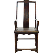 Antique Chinese Chair, 19th c. Elm