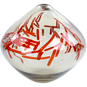 "Art Glass Vase ""Red Confetti"" by Eric Rubinstein"