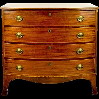 Mahogany Bowfront Chest - Massachusetts 1790 - 1800