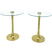 Pair Vintage Drinks Tables - Side Tables