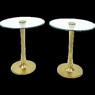 Pair Vintage Drinks Tables - Side Tables