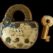 Sale Conemaugh & Black Lick Railroad Lock & Key Set, Pennsylvania