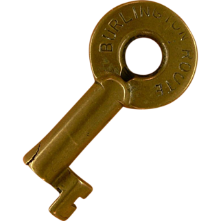 Burlington Route Brass Adlake Railroad Key, CB & Q Chicago Burlington and Quincy
