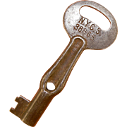 """NYCS New York Central System Railroad """"Oiler"""" """"Moon"""" Steel Key"""
