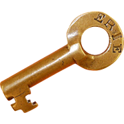 Erie Railroad Brass Fraim switch Key