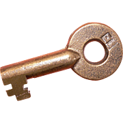 Erie Lackawanna Railroad Brass Hollow Barrel Key