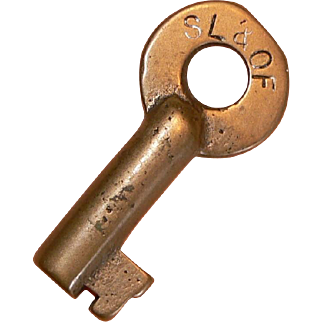 St Louis & O'Fallon Railroad Brass Adlake Vintage Key