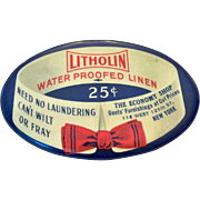 Litholin Water Proofed Linen Advertising Mirror