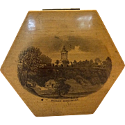 Mauchline Ware Hexagonal Thread Box