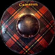 Tartanware Mauchline Ware Tape Measure, Cameron