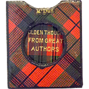 Tartan Case Midget Book and Slipcase in Original Box