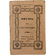 "Miniature pamphlet ""Rhymes for the Nursery"""