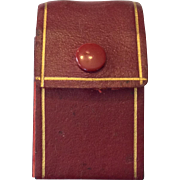 Red leather bottle case